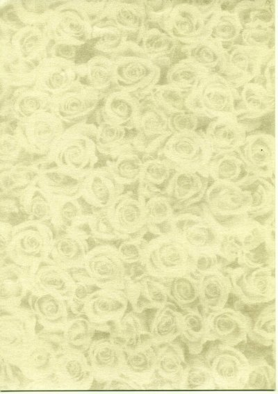 Backing Paper A4 Pearlised - Gold Rose Montage (Small)